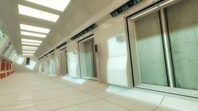 Futuristische binnenlandse architectuur Stock Foto