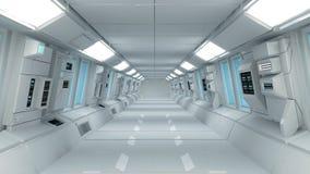 Futuristische binnenlandse architectuur Stock Afbeelding