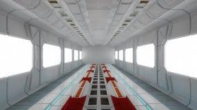 Futuristische binnenlandse architectuur Stock Foto's