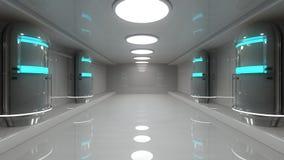 Futuristische binnenlandse architectuur Royalty-vrije Stock Afbeelding