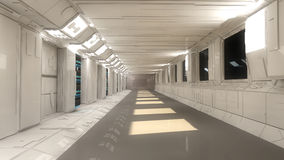 Futuristische binnenlandse architectuur Stock Afbeeldingen