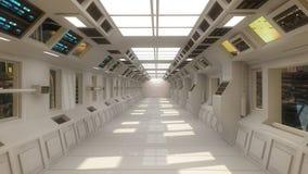 Futuristische binnenlandse architectuur Royalty-vrije Stock Fotografie