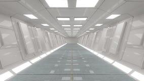 Futuristische binnenlandse architectuur Stock Fotografie