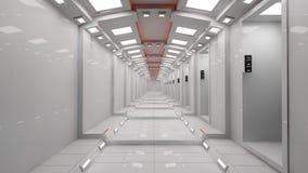 Futuristische binnenlandse architectuur Royalty-vrije Stock Foto