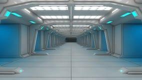Futuristische binnenlandse architectuur Royalty-vrije Stock Afbeeldingen