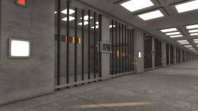 Futuristische binnenlandse gevangenis Royalty-vrije Stock Foto