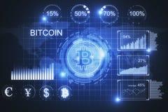 Futuristische bitcoinachtergrond Royalty-vrije Stock Foto