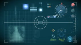 Futuristische controlebord en scificontroles Royalty-vrije Stock Afbeelding