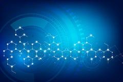 Futuristische Cyber-technologie blauwe en witte abstracte achtergrond w stock illustratie