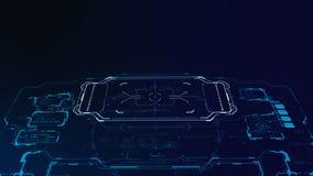 futuristische 3d Benutzerschnittstelle Stockbild
