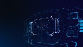 futuristische 3d Benutzerschnittstelle Lizenzfreies Stockfoto