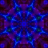 Futuristische de energiemandala van de caleidoscoop digitale abstracte moderne unieke symmetrie, oosterse moderne magisch royalty-vrije illustratie