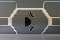 Futuristische deur Stock Fotografie
