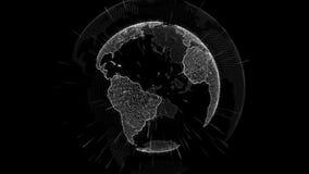 futuristische digitale gegevensbol betekenis van wetenschap, informatienet omringende aarde die connectiviteit en technologie ver stock illustratie