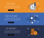 Futuristische Fahne der Schlüsselwährung Stockfoto