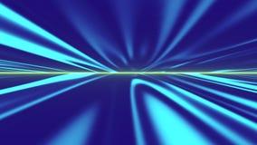 Futuristische Fluganimation, Musikvideos, Nachtklubs, audio-visuelle Shows und Musikkonzerte vektor abbildung