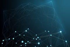 Futuristische Form der technologischen Verbindung, weißes Punktnetz, abstraktes backgroun Lizenzfreie Stockfotos