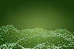 Futuristische Form der technologischen Verbindung, Wiedergabe 3D Lizenzfreies Stockfoto