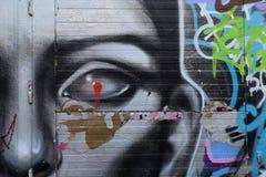 Futuristische gezichtsgraffiti Royalty-vrije Stock Afbeeldingen