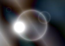 Futuristische glühende Kreise mit dunkelblauen Metallfarben Stockfotografie