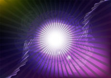 Futuristische glühende Streifen und Kurven Purpurrotes Vektor illustratio Lizenzfreies Stockbild