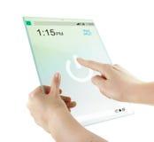 Futuristische glas digitale tablet royalty-vrije stock afbeeldingen