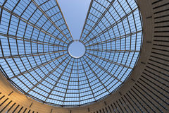 Futuristische glas-Staal Koepel - Rovereto Italië Royalty-vrije Stock Foto