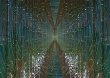 Futuristische glastunnel Stock Afbeelding