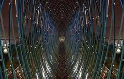 Futuristische glastunnel Stock Foto's