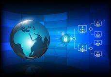 Futuristische globale Sicherheit Stockbild