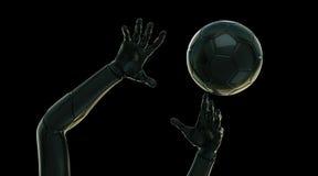 Futuristische handen met bal Royalty-vrije Stock Foto