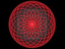 Futuristische het gebied abstracte fractal van het spirographpatroon Stock Afbeeldingen