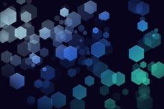 Futuristische Hexagonhintergrundtapete lizenzfreie abbildung