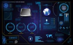 Futuristische hud Schnittstellenelement-Entwurfstechnologie-Gesundheitsweseninnovations-Konzeptschablone Stockfotografie