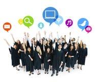 Futuristische Ideeën die Studentenconcept een diploma behalen Royalty-vrije Stock Foto's