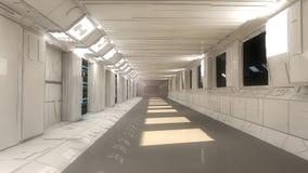 Futuristische Innenarchitektur Stockbilder