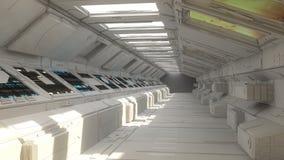 Futuristische Innenarchitektur Lizenzfreies Stockfoto