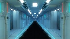 Futuristische Innenarchitektur Stockfotografie