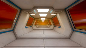 Futuristische Innenarchitektur Lizenzfreie Stockfotografie