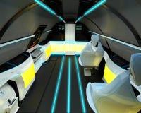 Futuristische Innenarchitektur von Business-Class-Flugzeugen Stockfotos