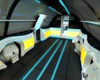 Futuristische Innenarchitektur von Business-Class-Flugzeugen Stockbilder