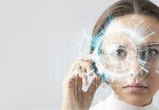 Futuristische intelligente Gläser Lizenzfreie Stockbilder