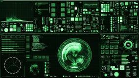 Futuristische interface/het Digitale scherm/Gedetailleerde abstracte achtergrond vector illustratie
