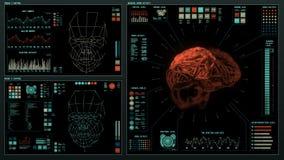 Futuristische interface   HUD   Het digitale scherm vector illustratie