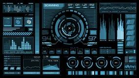 Futuristische interface | HUD | Het digitale scherm vector illustratie