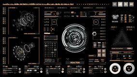 Futuristische interface | HUD | Het digitale scherm stock illustratie