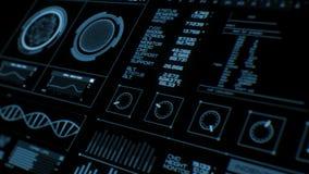 Futuristische interface   HUD   Het digitale scherm stock illustratie
