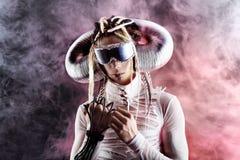 Futuristische jonge mens Stock Afbeelding