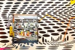 Futuristische Kaffeeecke 2019 Biennale Arte Venedig lizenzfreie stockfotografie