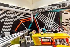 Futuristische Kaffeeecke 2019 Biennale Arte Venedig lizenzfreie stockfotos